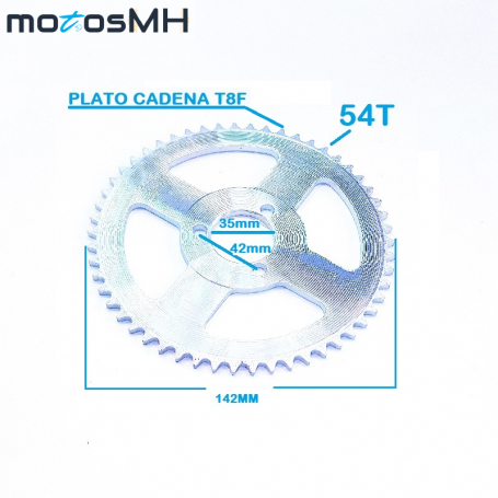 PLATO CADENA ARRASTRE 54T T8F 35MM