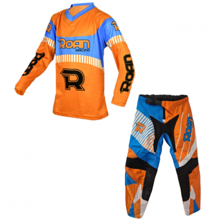 TRAJE MOTO CROSS INFANTIL MX21 - Naranja