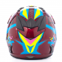 CASCO MOTOCROSS ADULTO MX-530- Rojo